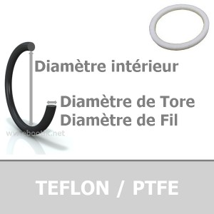 JOINT TORIQUE 2.57x1.78 PTFE AS005
