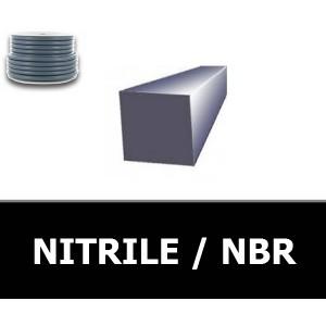 CORDE CARREE 10.00 mm NBR/NITRILE 70 Shores Blanc