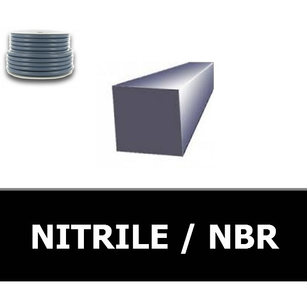 CORDE CARREE 10.00 mm NBR/NITRILE 70 Shores Blanc