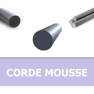 CORDE RONDE MOUSSE 3.00 mm EPDM GRIS