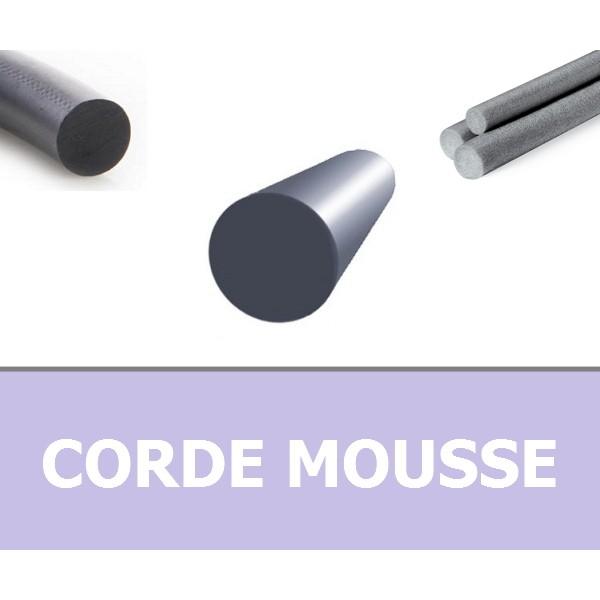 CORDE RONDE MOUSSE 7.00 mm EPDM NOIRE