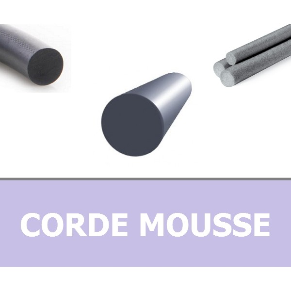 CORDE RONDE MOUSSE 2.50 mm EPDM NOIRE