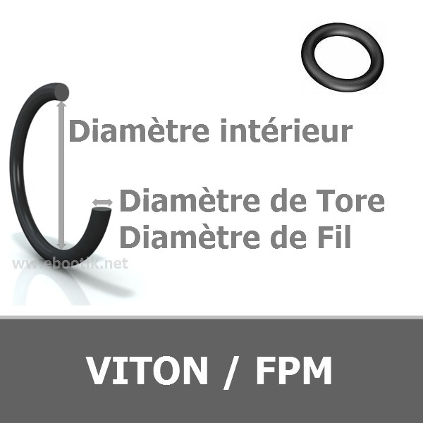 JOINT TORIQUE 1.07x1.27 mm FPM/VITON 70 VERT AS 002