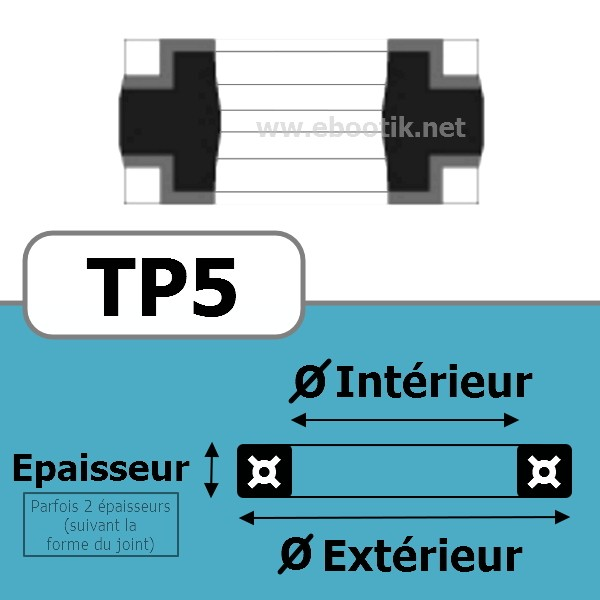 JOINT TETE DE PISTON 125x110x15.2 TP5 NBR