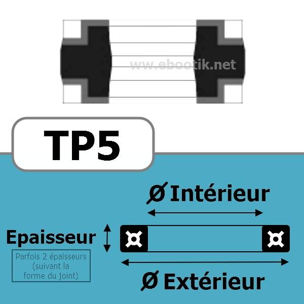 JOINT TETE DE PISTON 140x125x18 TP5 NBR