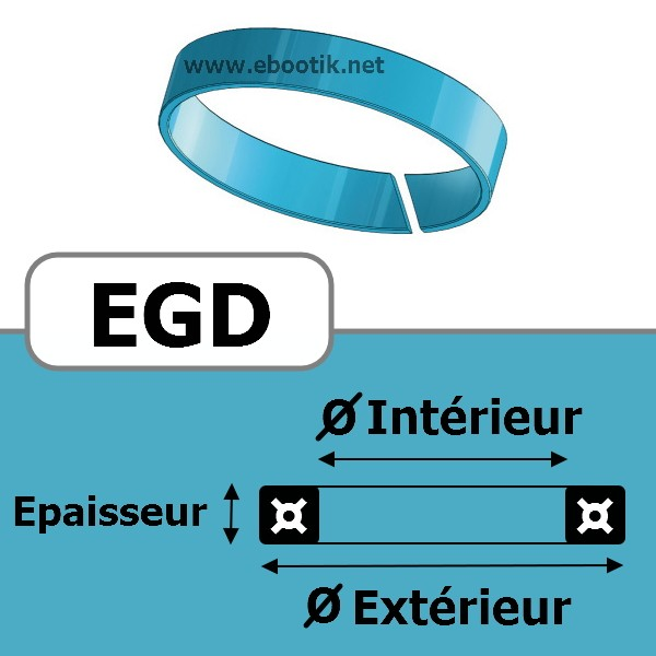 SEGMENT DE GUIDAGE 21.8x25x3.8 EGD CG