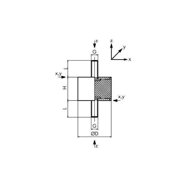 PLOT MALE/MALE 100x40 M16