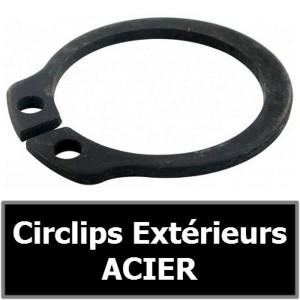 CIRCLIP 15.00 mm Extérieur (pour arbre/axe) en ACIER