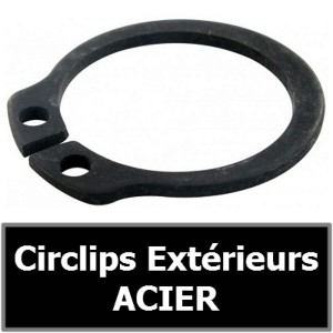 CIRCLIP 19.00 mm Extérieur (pour arbre/axe) en ACIER