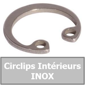CIRCLIP 9.50 mm Intérieur (pour alésage) en INOX