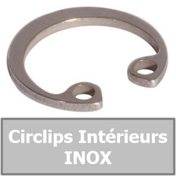 CIRCLIP 22.00 mm Intérieur (pour alésage) en INOX