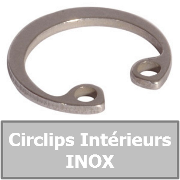 CIRCLIP 37.00 mm Intérieur (pour alésage) en INOX