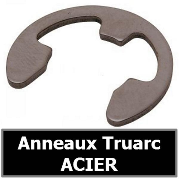 Anneau Truarc 19.00 mm (pour arbre/axe) en ACIER
