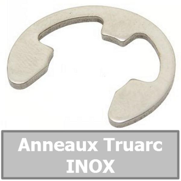 Anneau Truarc 10.00 mm (pour arbre/axe) en INOX